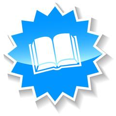 Book blue icon