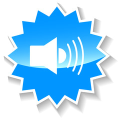 Sound blue icon