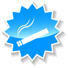 Cigarette blue icon