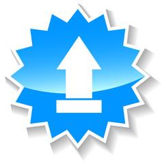 Upload blue icon