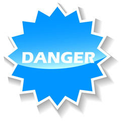 Danger blue icon