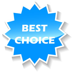 Best choice blue icon