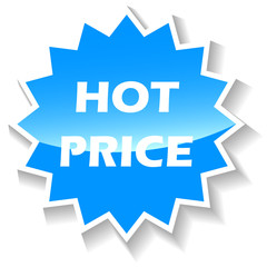Hot price blue icon