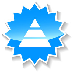 Pyramid blue icon