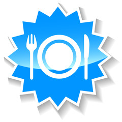 Food blue icon