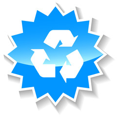 Recycling blue icon