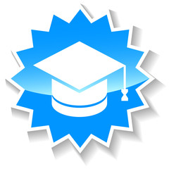 Knowledge blue icon