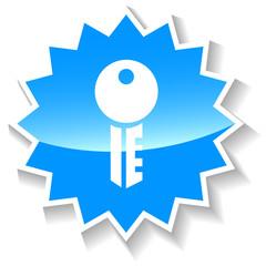 Key blue icon