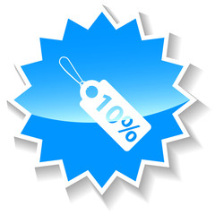 Price tag blue icon