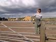 small boy on gate