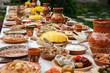 Leinwanddruck Bild - homemade moldavian food