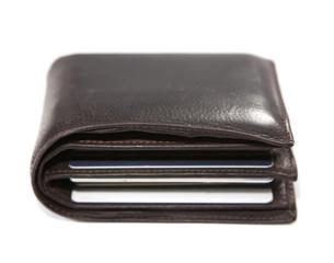 portefeuille en cuir et cartes de crédits