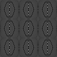 Seamless geometric texture. Op art pattern.