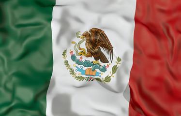 Mexico corrugated flag 3D illustration