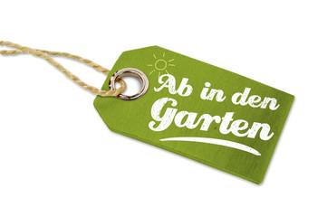 Anhänger mit Ab in den Garten