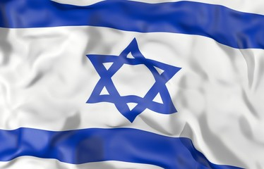 Israel corrugated flag 3D illustration