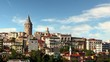 Istanbul at day, time lapse motion - Galata district, Turkey
