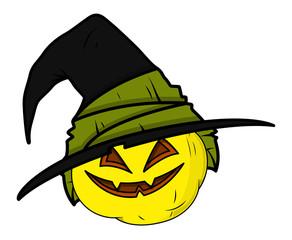 Haunted Jack-O'-Lantern - Halloween Vector Illustration