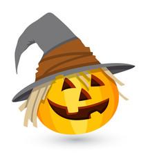 Comic Jack-o'-lantern - Halloween Vector Illustration