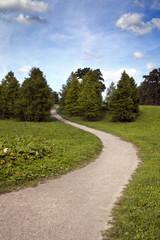 Sandweg in einem Park