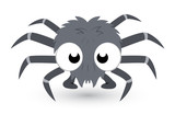 Cute Tiny Spider Vector