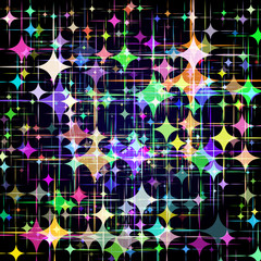 Abstract background with colorful stars. Vector. 1