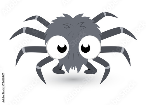Cute Tiny Spider Vector - 78660947