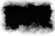 canvas print picture - smoke cloud frame, isolated on black