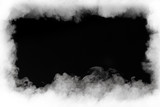 smoke cloud frame, isolated on black - 78661103
