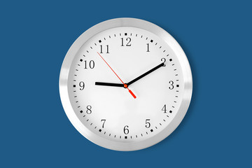 classic clock on blue background