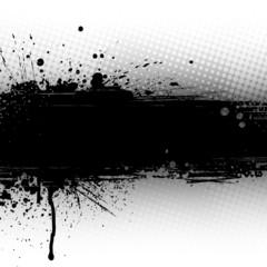 Splattered Black Banner