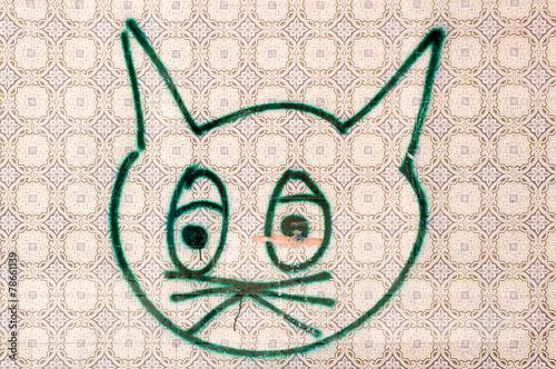canvas print picture Katze