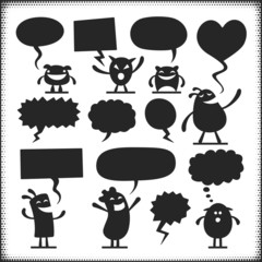 Characters with Speech Bubbles