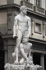 Statue of Hercules and Caucus in Florence, Italy