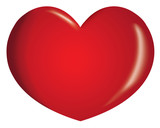Fototapety Icon or symbol of a heart