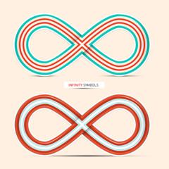 Infinity Symbols Set - Vector