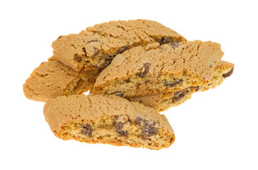 Several chocolate chip cantuccini biscuits
