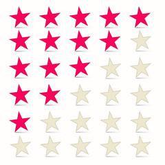 Vector Simple Stars Set - Rating Symbols