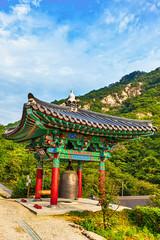 Monastery buddhist monk bell in Korea