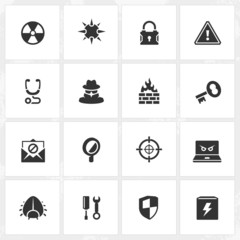 Antivirus and Security Icons
