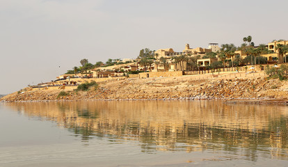 Dead sea coast at Jordan, Middle East