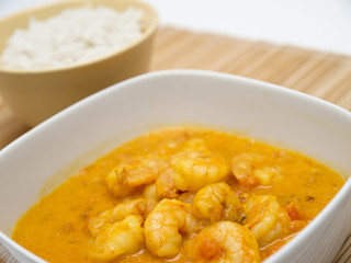Coconut curry with shrimp