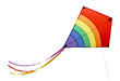 Leinwanddruck Bild - Rainbow Kite