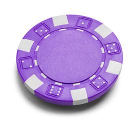 Purple Poker Chip