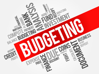 BUDGETING word cloud, business concept