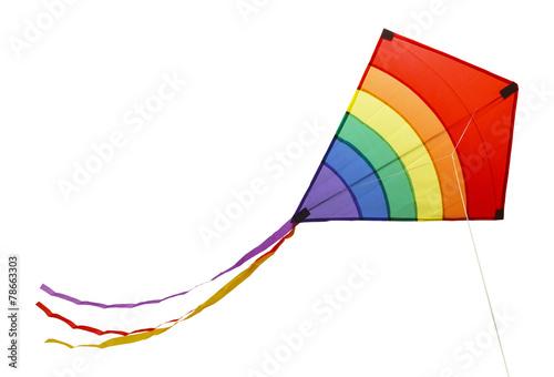 Leinwanddruck Bild Rainbow Kite