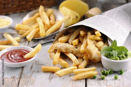 Papiers peints Poisson Fish and chips