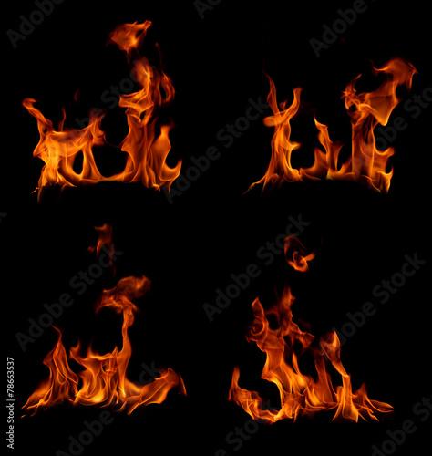 In de dag Vuur / Vlam Fire flames collection.