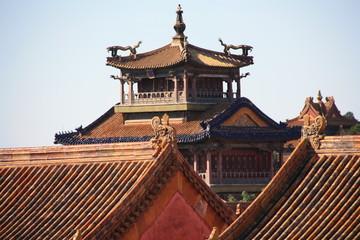 Detalle arquitectura antigua oriental
