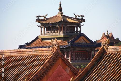 canvas print picture Detalle arquitectura antigua oriental